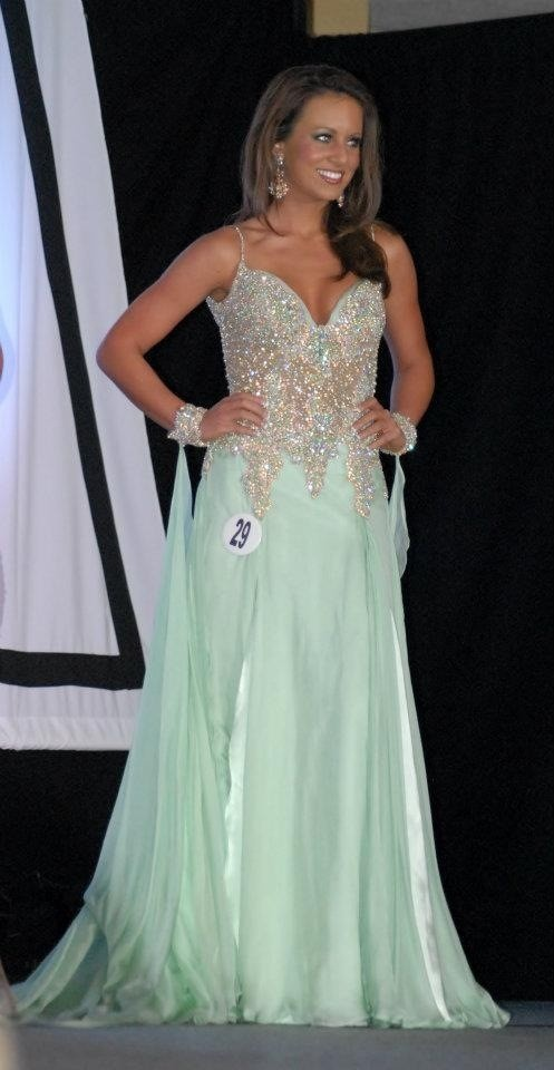 I wore this gorgeous MacDuggal gown to compete in the