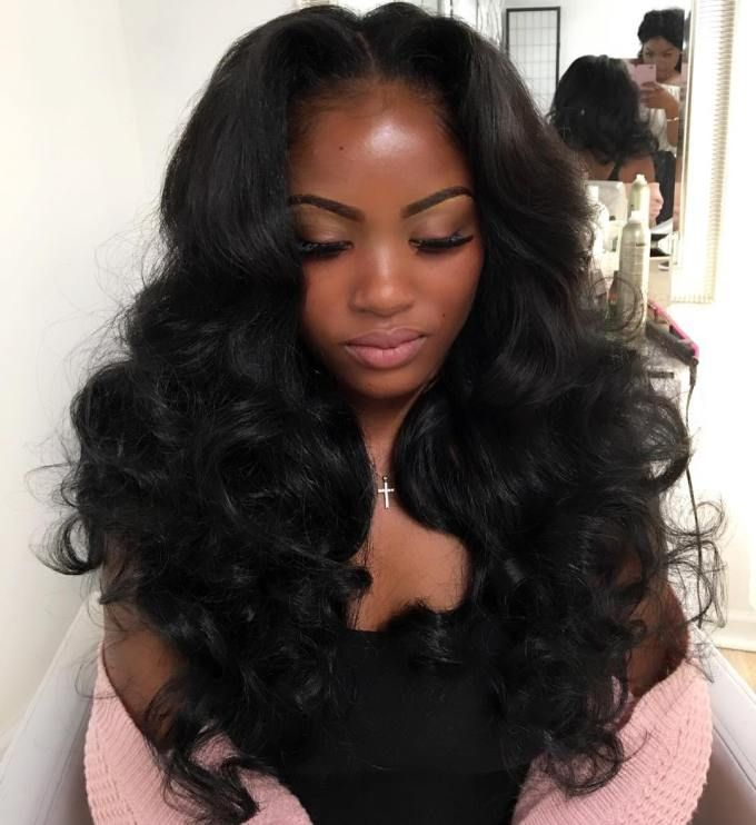 Sew Hot 40 Gorgeous SewIn Hairstyles  Long curly weave