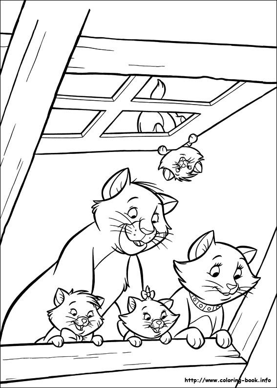 51 best images about Aristocats Coloring Pages on Pinterest