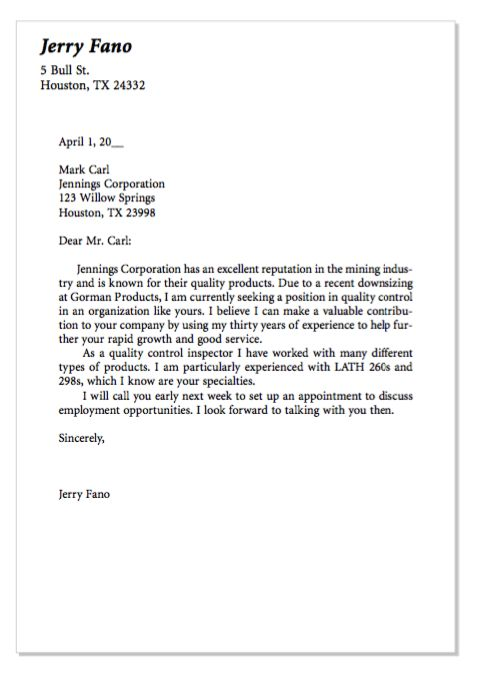 Example Of Quality Control Cover Letter  http