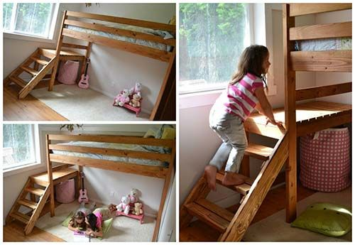 How To Build A Camp Loft Bed With Stair Crafts Diy