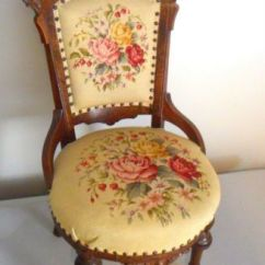 Eastlake Victorian Parlor Chairs Stress Chair Antique Needlepoint | Berlin Woolwork: Chairs, Stools Pinterest Round ...