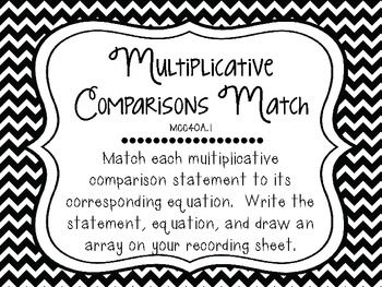 Multiplicative Comparison Word Problems 4th Grade