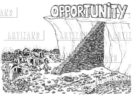 """""""Opportunity Comes in Between Risk & Challenge.""""- Jokes on"""