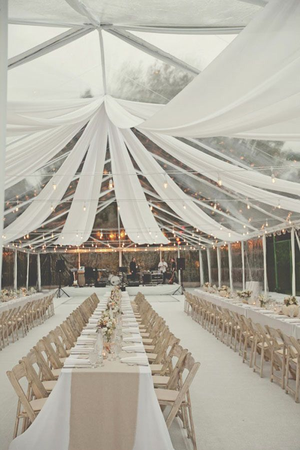 The best way to decorate the reception tent the newport bride many couples hang decorations to add extra charm up above we love the idea and put together some of our favorites which one do you like best junglespirit Image collections