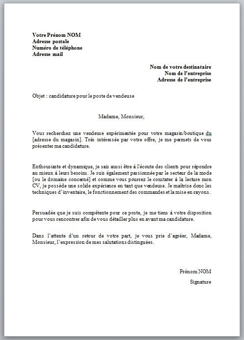 lettre de motivation assistante administrative sans experience