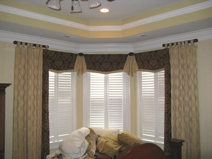 window treatment ideas for bay windows in living room design on a budget treatments | custom and semi ...