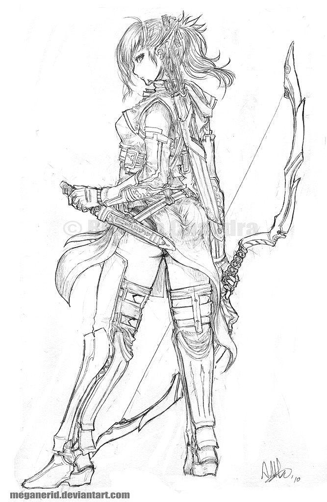 Elven Ranger Aniera by MeganeRid.deviantart.com on