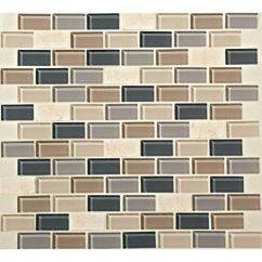 Brick Tiles For Backsplash In Kitchen Cabints This Photo Features Skyline 3/4 X 1-1/2 Brick-joint Mosaic ...