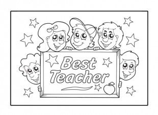 pYour child can enjoy colouring in this Best Teacher