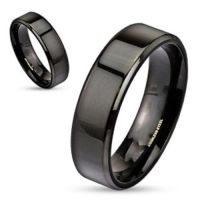 Personalized Black Stainless Steel Name Ring For Men or