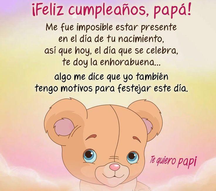 Imágenes De Cumpleaños Para Papá Frases