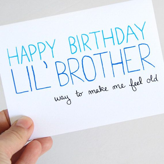 Little Brother Birthday Card Birthday Card For Brother