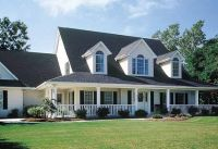 3 front dormers and farmers porch | House plans ...