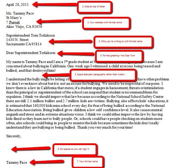 business letter format mla