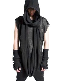 giant scarf - - - - - - DEMOBAZA - HOODED MERINO WOOL ...