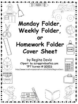 1000+ images about Homework folders on Pinterest