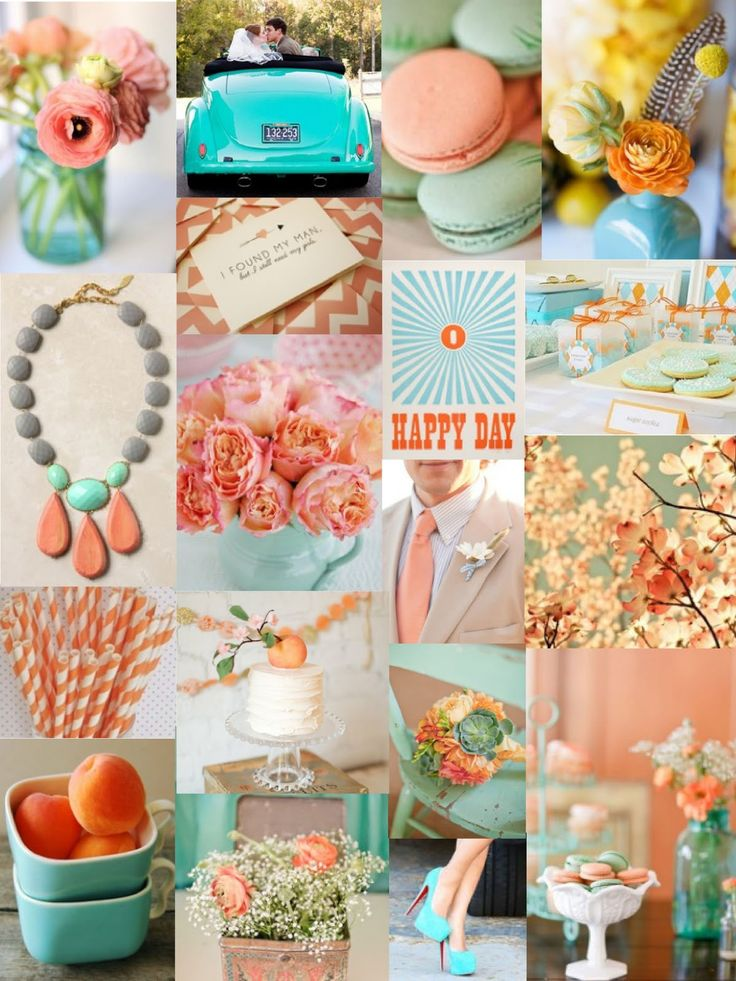 17 Best images about Peach  Teal Color Mix on Pinterest