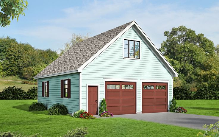 Plan 68456VR 2 Car Detached Garage With Man Cave Above