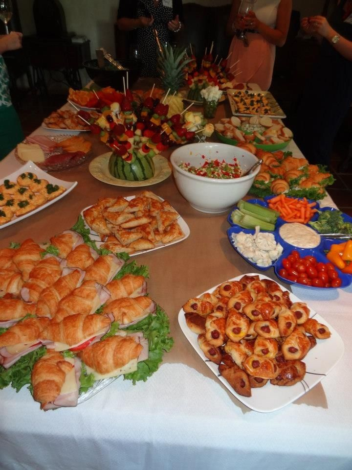 We should totally do cute finger food Great bridal shower food   Tashas Bridal Shower