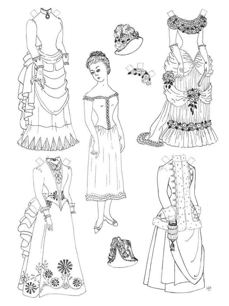 17 Best images about Paper Dolls to Colour on Pinterest