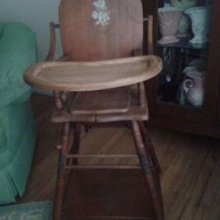 Retro High Chairs Babies Desk Chair Gold Coast Vintage 1940's Baby Wooden | 1950s Pinterest ...