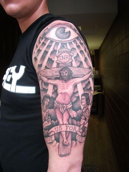 20 Sin Cross Tattoo Ideas And Designs