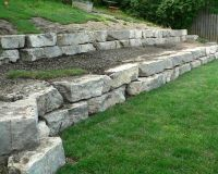 25+ best ideas about Stone retaining wall on Pinterest