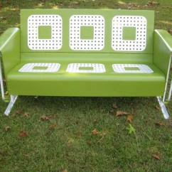 Antique Lawn Chairs Banquet Chair Covers To Buy Refurbished Vintage Metal Porch Patio Glider ~ Fern Green | Home - Exterior & Architecture ...