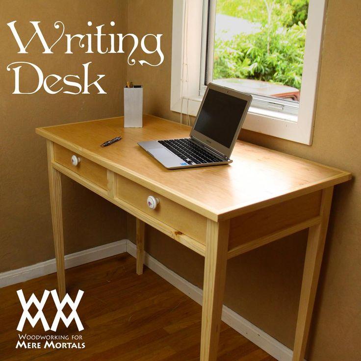 Elegant writing desk Free plans  WWMM Furniture