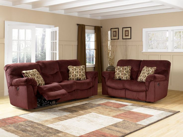 living room decor with brown leather couches dark flooring colors burgundy couch | motivation ...