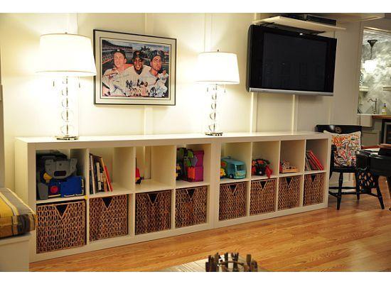 toy storage for living room  living room  Pinterest