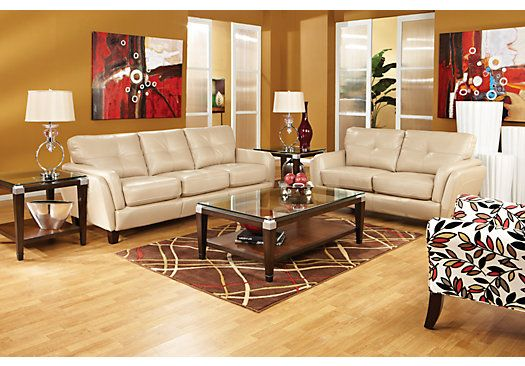 Shop for a Cindy Crawford Home San Sorrento Latte Leather