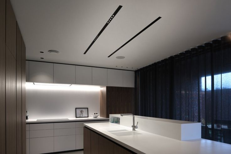 kitchen table bench seat cabinets organization corian lit by kreon recessed led double focus ...