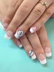 white tips with stroke freehand