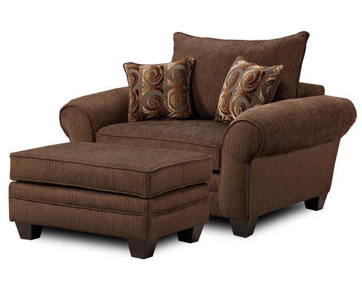 MH910 Oversized Chair and Ottoman Combination by Townhouse
