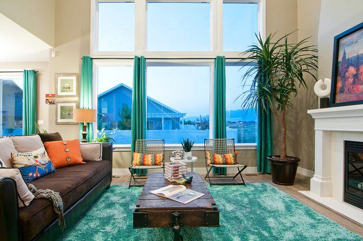 Brown And Dark Turquoise Living Room  Wwwpixsharkcom