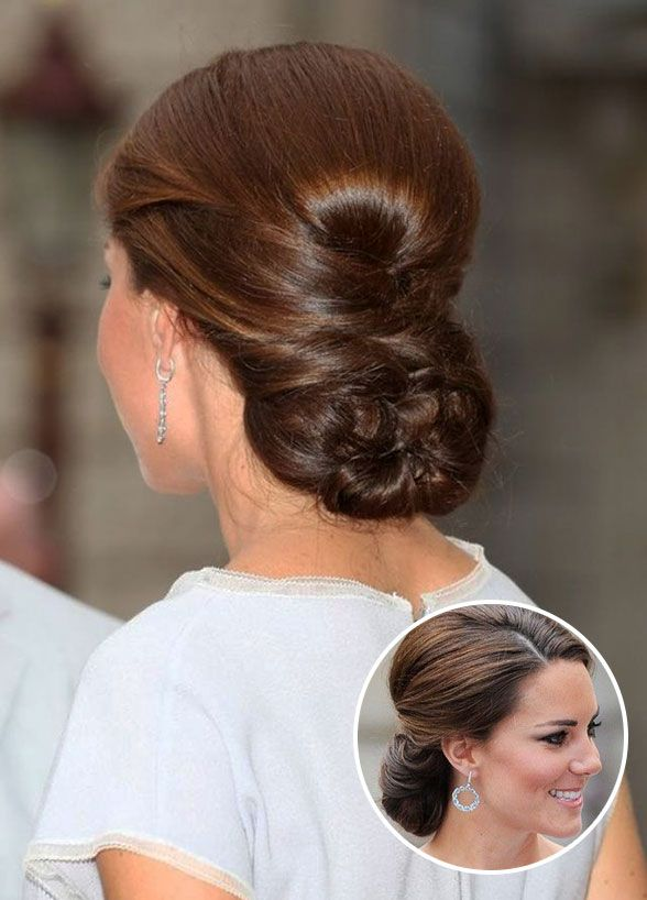 Kate Middleton – Perfectly Pulled Together. Volume at the crown and a braided back make this a sleek selection fit for a
