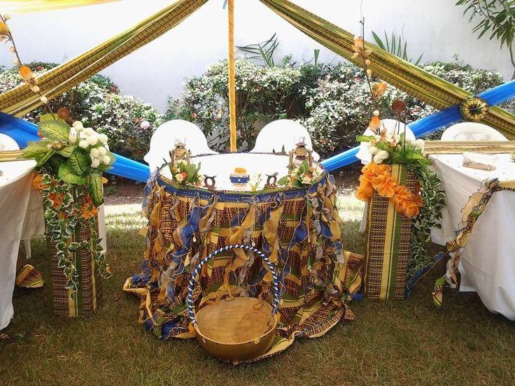 dcoration table dhonneur mariage traditionnel en imprim kita  mes cras  Pinterest  Tables