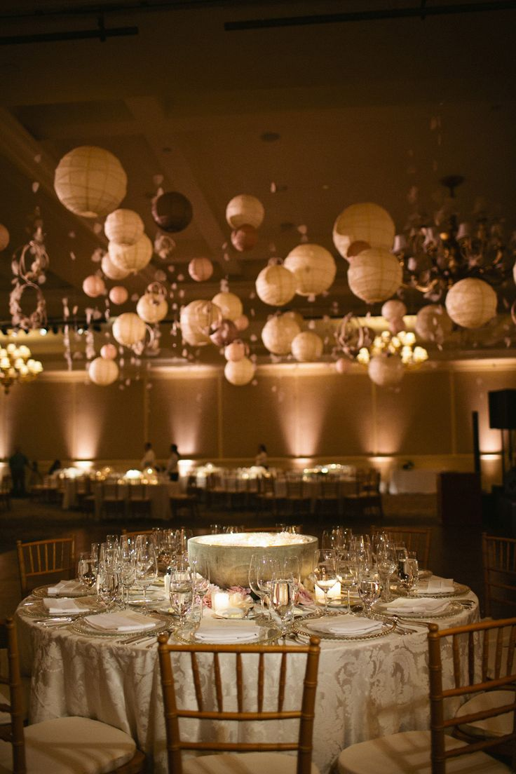 Modern  Elegant Ballroom Wedding  Hanging decorations Beautiful and Receptions