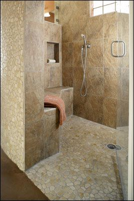 17 Best images about Doorless Shower on Pinterest  Traditional bathroom Walk in shower designs