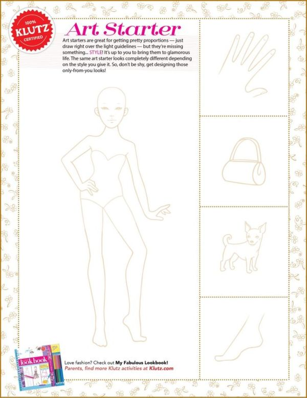 Kids Fashion Model Template Printable Division of Global