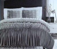 New cynthia rowley ruched / ruffled comforter & shams ...