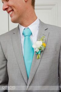 Love the Gray suit and turquoise tie next to the white and ...