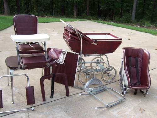 retro high chairs babies tables and cohoes babyhood wonda chair set in burgundy - gorgeous! | stollers, prams, carriages & the like ...