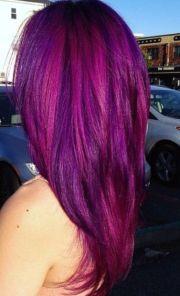 pink purple hair straight