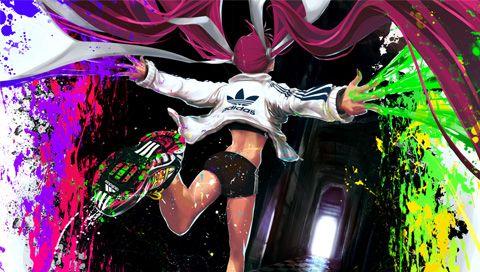 Abstract Adidas Paint Girl Falling PSP Wallpaper FREE