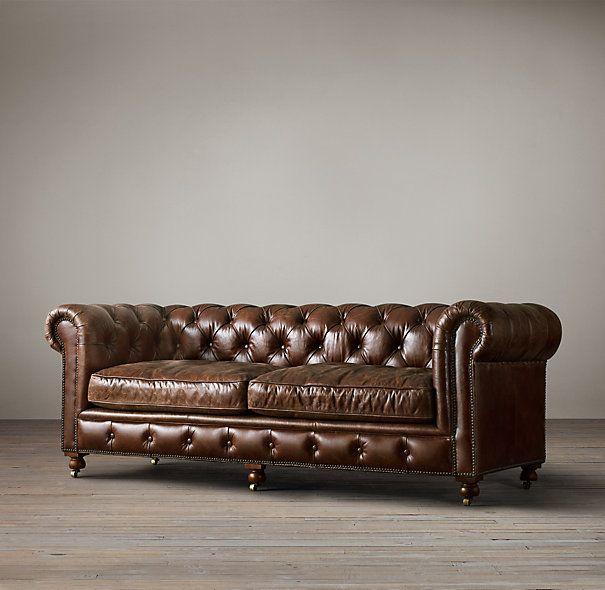 kensington leather sofa restoration hardware world market nolee review the petite sofas - ...
