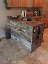 Rustic kitchen island with Stikwood Reclaimed Wood!   NEW ...