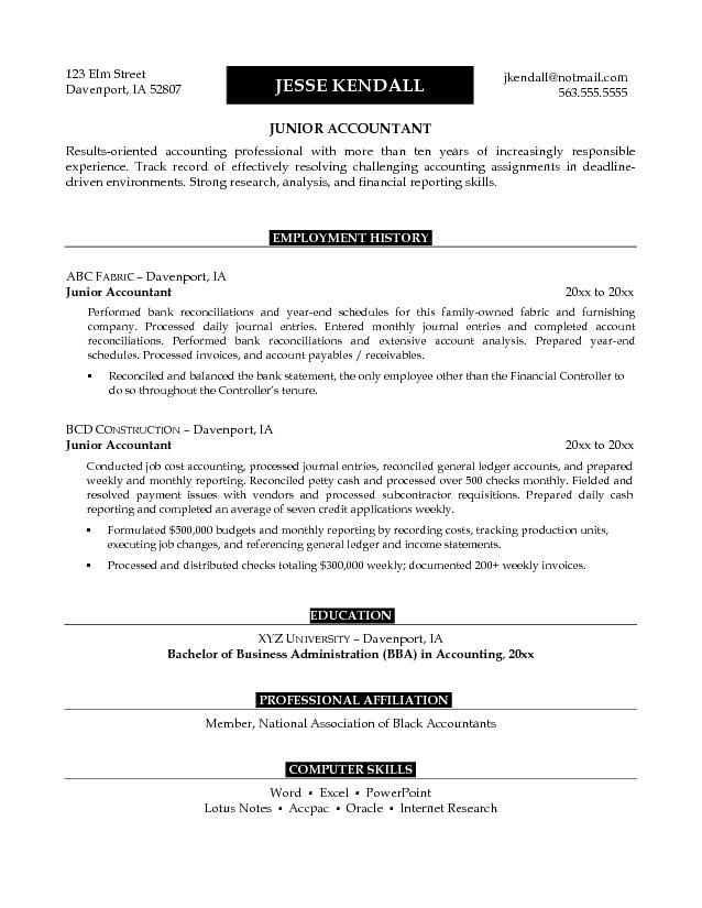 Example Of Objective In Resume For Jobs